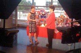 Teresa Nelson on the Set of Good Morning Texas